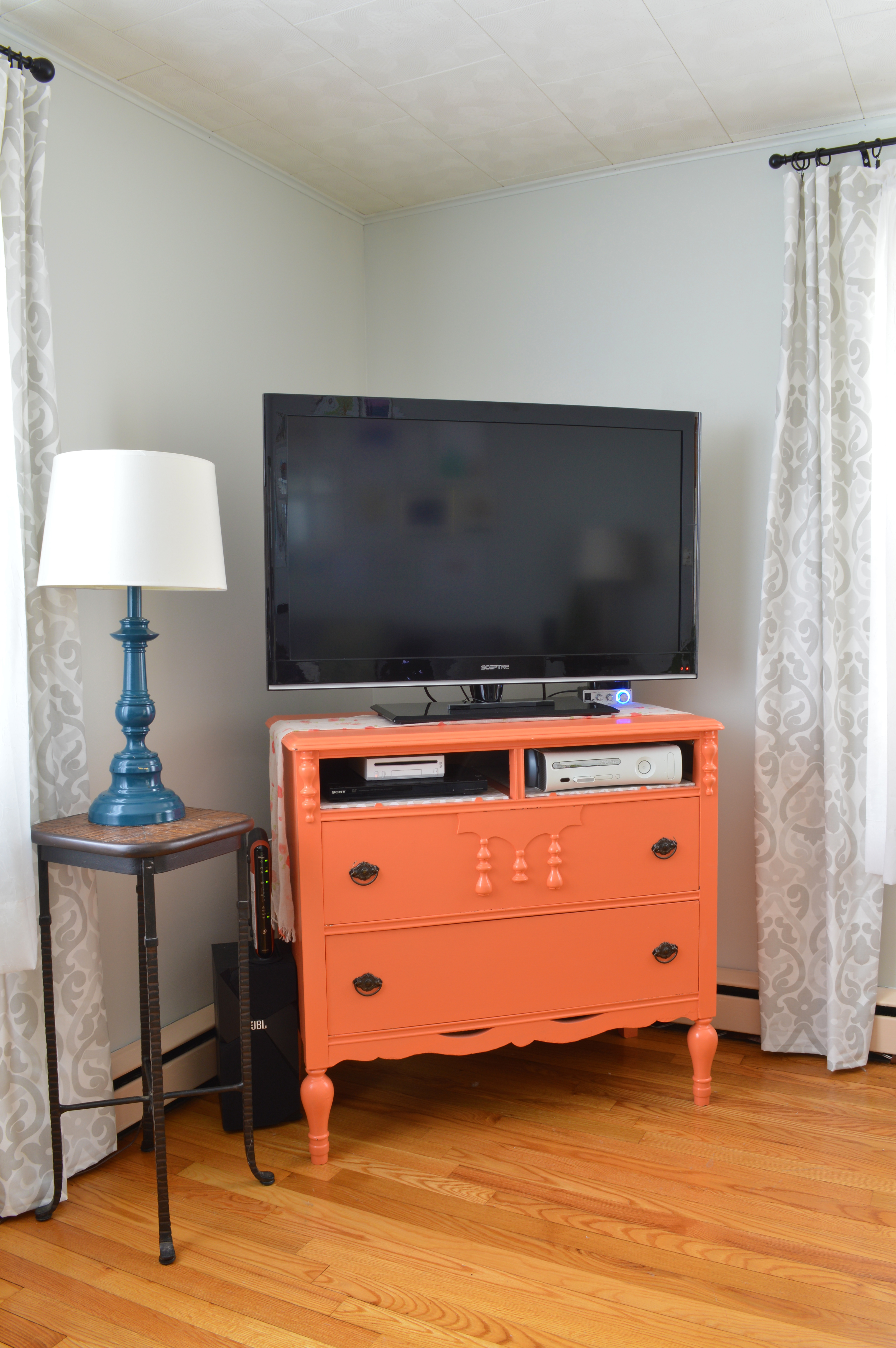 Furniture Makeover From Dresser To Tv Stand Plaster