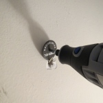 Use a dremel to repair hole in the wall -- Plaster & Disaster