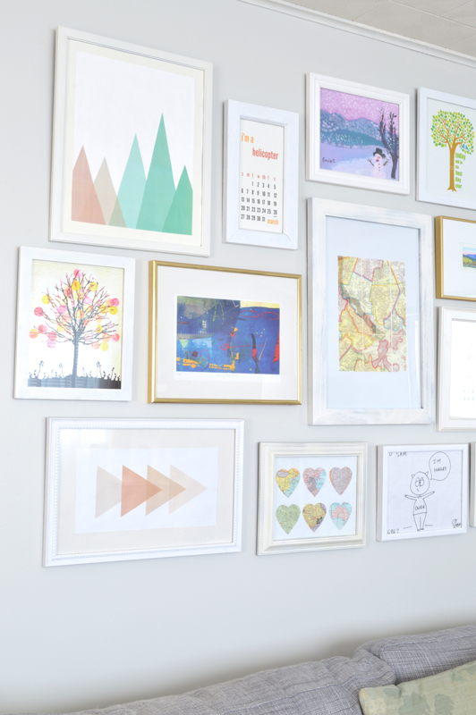 Gallery Wall in the living room -- Plaster & Disaster
