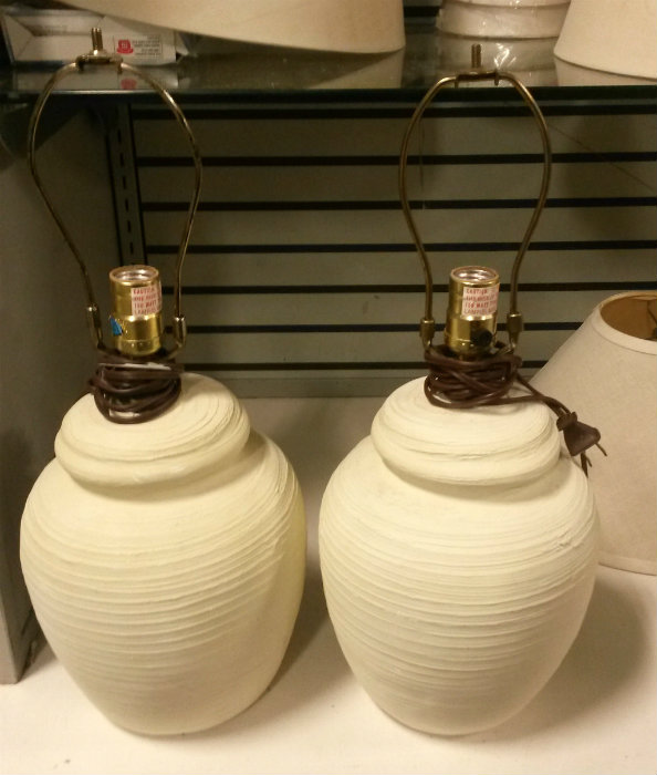 Goodwill Lamp Redo - Before Text - Plaster & Disaster