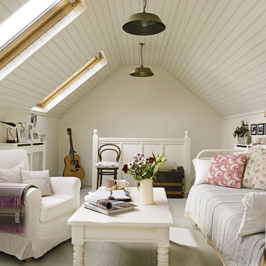 Attic room with skylights -- Plaster & Disaster