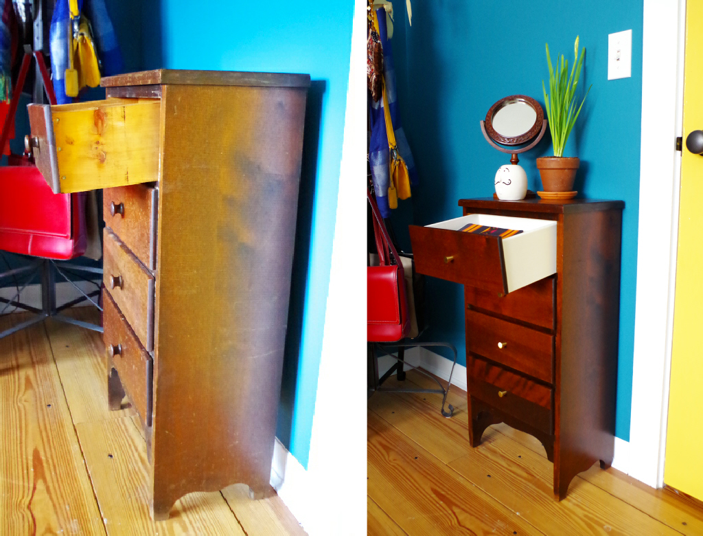 Furniture Makeover - Before and After - Plaster & Disaster
