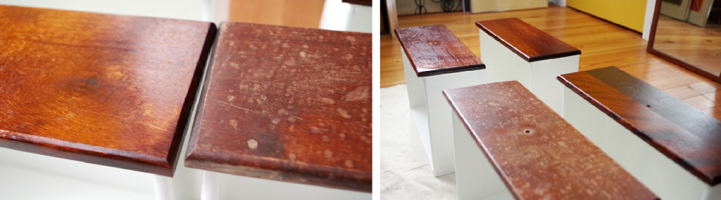 Furniture Makeover - Finish Before and After - Plaster & Disaster