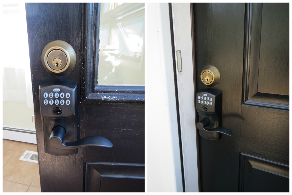 Easy to install keyless locks -- Plaster & Disaster