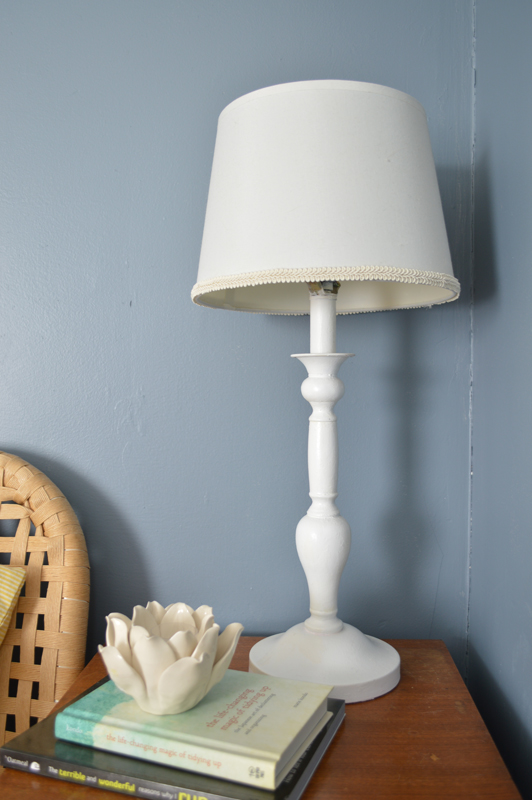 Adding ribbon to a lampshade -- Plaster & Disaster