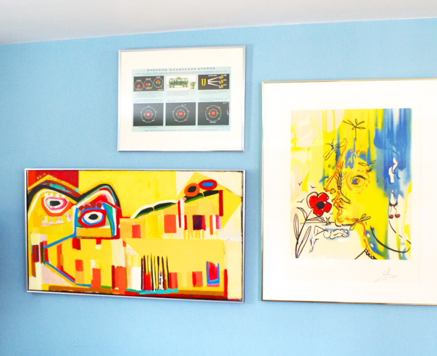 Gallery wall - the left side - Plaster & Disaster