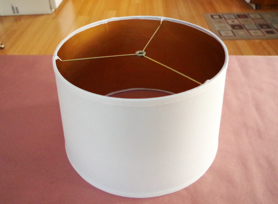 Lampshade Decorating - Lampshade Interior Painted with Liquid Gold Leaf - Plaster & Disaster