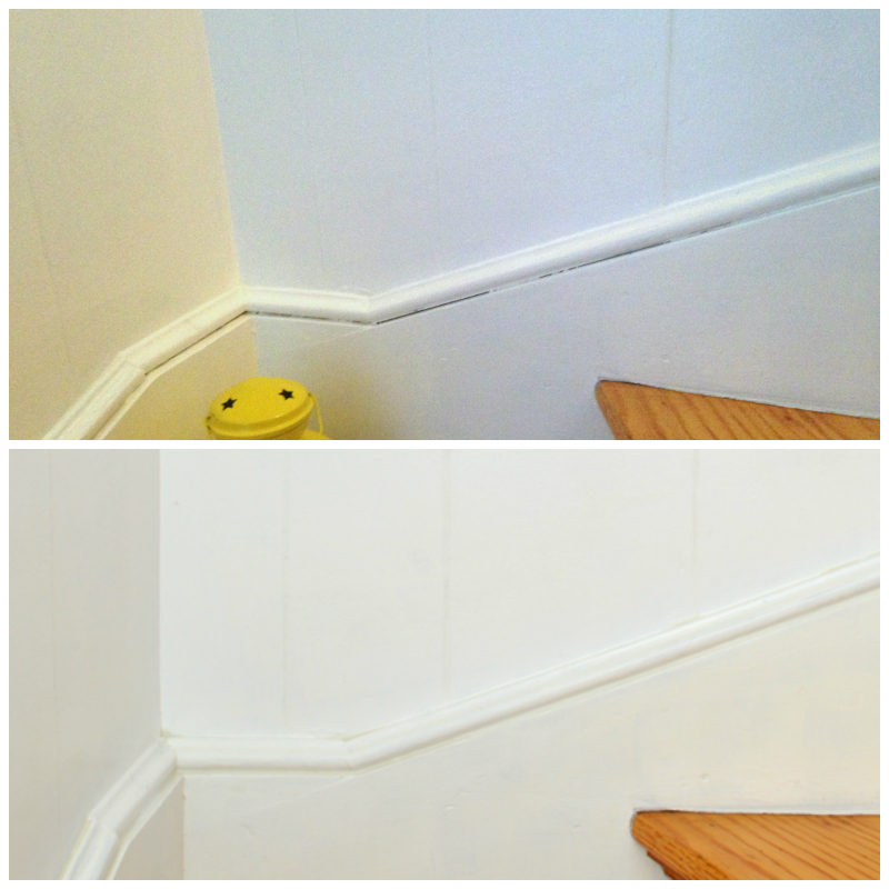 What a difference caulking makes -- Plaster & Disaster