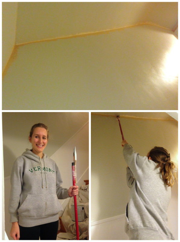Painting hard-to-reach parts of ceiling -- Plaster & Disaster