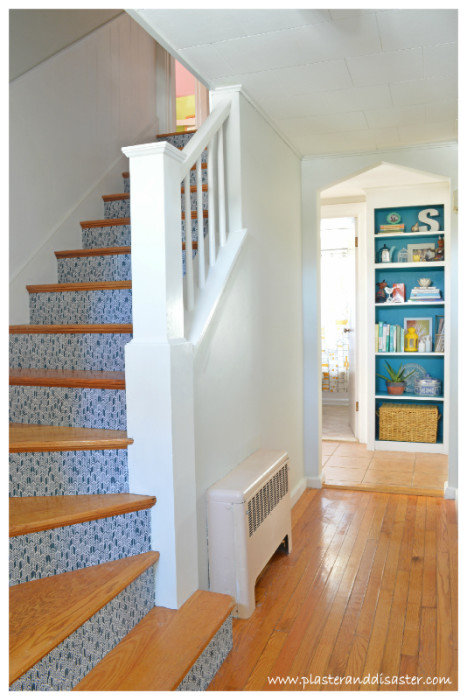 Transforming a stairwell with fabric -- Plaster & Disaster