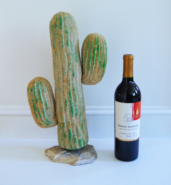 Mystery Thirft Off Item - with wine for scale - Plaster & Disaster