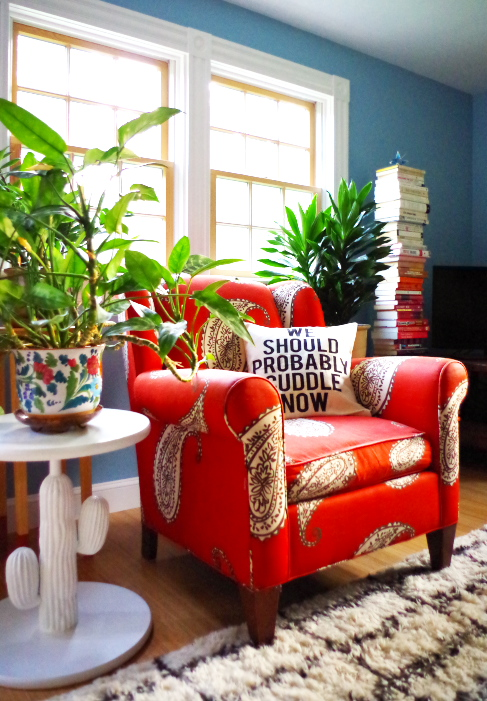 Where I got my Eclectic Couch Cushions - Plaster & Disaster