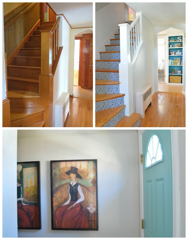 A Light and Colorful Stairwell Transformation -- Plaster & Disaster