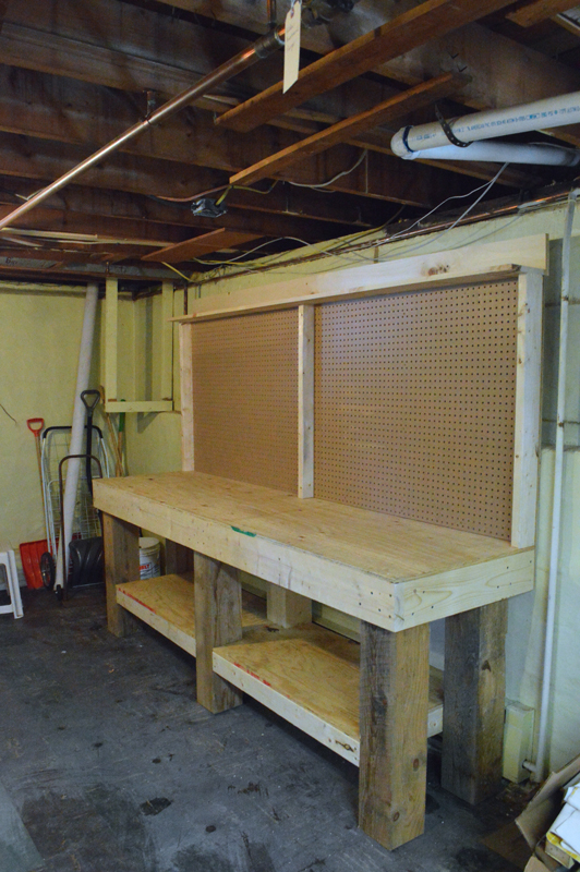 Basement workbench -- Plaster & Disaster