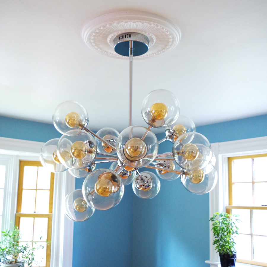 Finally a chandelier and how to install a ceiling medallion and how to install a ceiling medallion plaster disaster arubaitofo Images