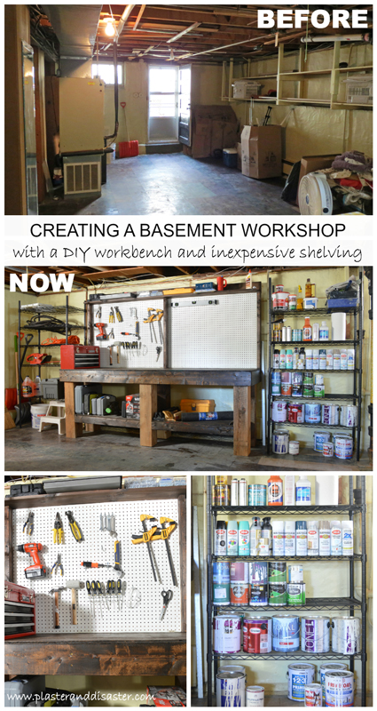 Creating a basement workshop -- Plaster & Disaster