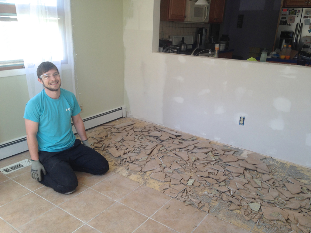 Removing kitchen tile floor image collections home flooring design remove floor tile removing kitchen tile floor detrit floor no more and how to mostly remove dailygadgetfo Image collections