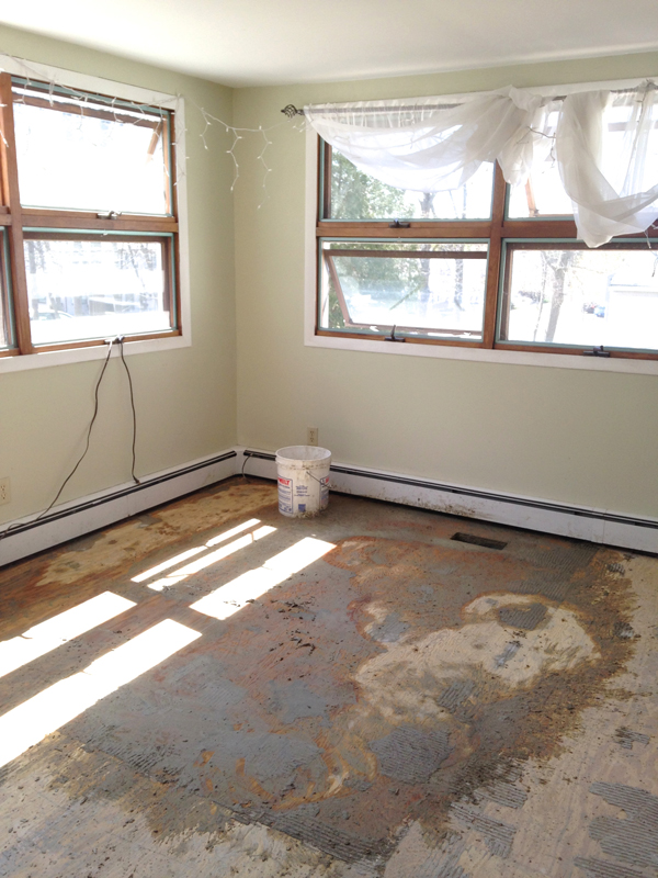 Tearing up tile floor -- Plaster & Disaster