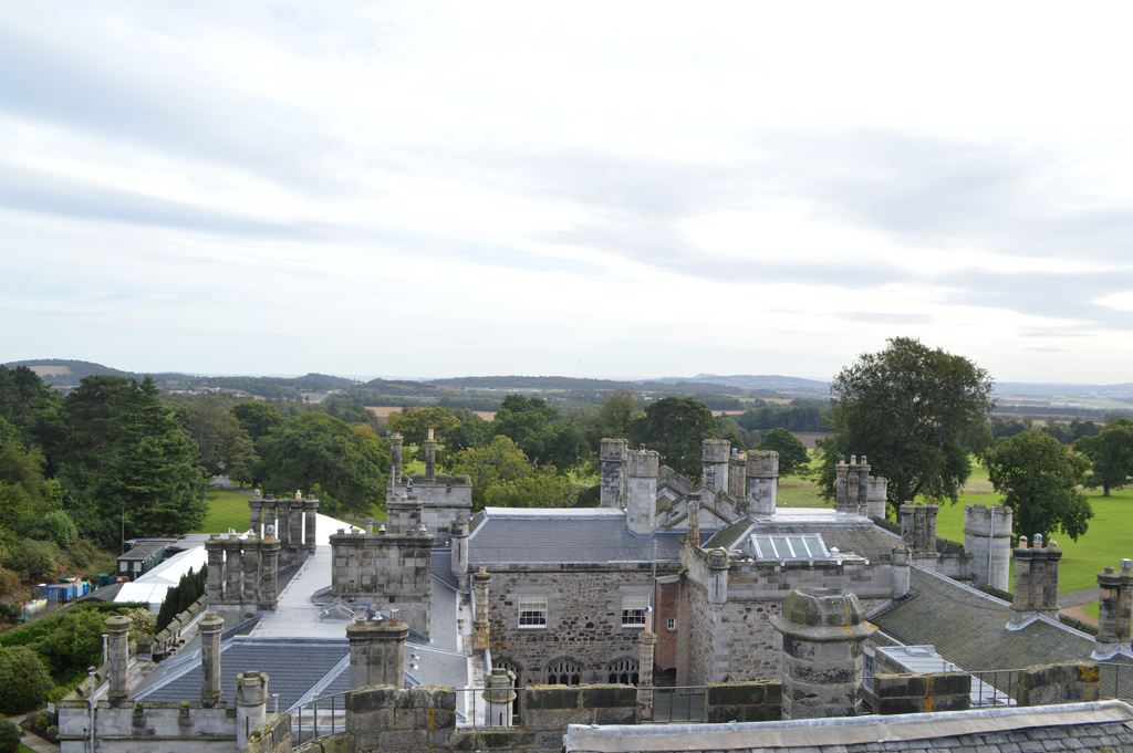 And a tower with views of edinburgh and the surrounding countryside