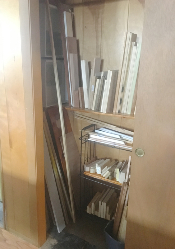 Organizing scrap wood -- Plaster & Disaster