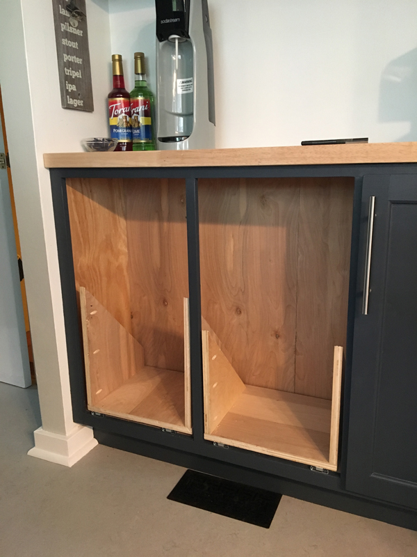 Kitchen Cabinets Pulled Out From Rest
